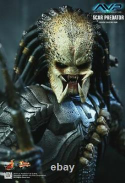 1/6 Hot Toys Mms190 Avp Alien Vs Predator Scar Predator 14 Movie Action Figure