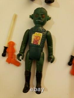 1978 Starroid Raiders Tomland Yasu Tanco Wag Newt Aton Tior spacemen aliens acc