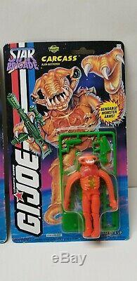 1994 VINTAGE GI JOE STAR BRIGADE Lot of all 3 ALIENS Carcass Lobotomaxx Predacon