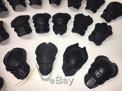 20 Lot (DIY)Predator 1/6 Scale Custom Resin Masks & 2 Alien Eggs Ready For Paint