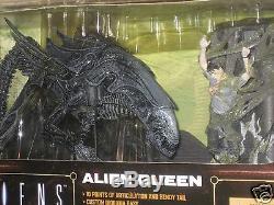 2003 Aliens Alien Queen Figure Deluxe set Movie Maniacs Series 6 Mcfarlane Toys