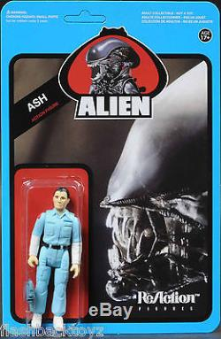 2013 SDCC Alien Blue Card Set of 6 Clear Alien MOC Super 7 ReAction Funko