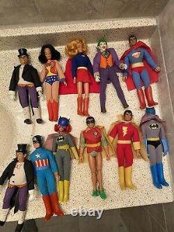 34 Vintage MEGO Action Figure Lot Marvel DC Star Trek Aliens Batman Superman