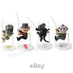 4pcs Set Predator Nightmare Freddy Aliens Friday Jason 7cm / 2.8 PVC Figure