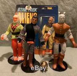 8 1976 Mego Star Trek Aliens Series 2 Complete! Romulan Talos Andorian Mugato