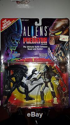 ALIENS VS. PREDATOR 2 pack withexclusive Dark Horse comic Kenner 1993 SEE DESCR
