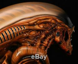 Alien Dog Head Bust Statue 13 Life-Size 15''L Prop Resin Full Painted Gifts
