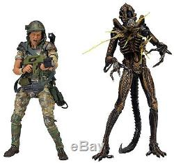 Aliens 7 Scale 2-pack Private Hudson vs Battle Damaged Brown Xenomorph NECA