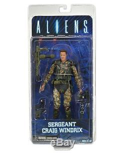 Aliens -Series 2 Set- 7 Scale Sgt Windrix Blue Xenomorph & '79 Xenomorph NECA