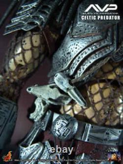 Avp Celtic Predator Hot Toys 1/6 Figure Statue Mms09 Sideshow Aliens Vs Rare