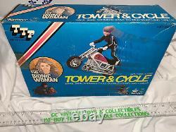 BIONIC WOMAN SIX MILLION DOLLAR MAN KENNER 1977 Tower & Cycle MIB Unused