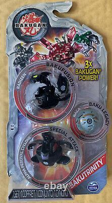 Bakugan Mechtanium Surge Bakutrinity Radizen + Alpha Percival Cyclone + Naga