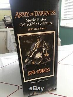 Code 3 Collectibles. Army Of Darkness Movie Poster Collectible Sculpture