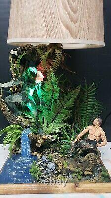 Custom PREDATOR vs DUTCH Lamp, Neca Arnold Schwarzenneger Alien