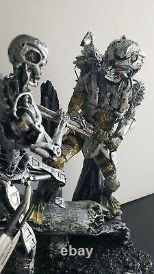 Custom PREDATOR vs TERMINATOR Lamp Neca Alien Predator Arnold Dutch Diorama