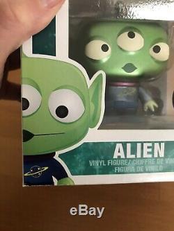 Funko POP Disney Toy Story Alien Metallic SDCC 2012 with POP Stack