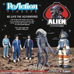 Funko ReAction Super 7 Alien Retro Kenner Style Action Figure 5 Piece Set NIB
