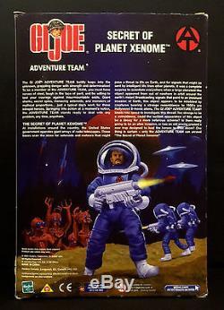 G. I. JOE ADVENTURE TEAM SECRET OF PLANET XENOME 12 ACTION FIGURE WithALIEN NIB