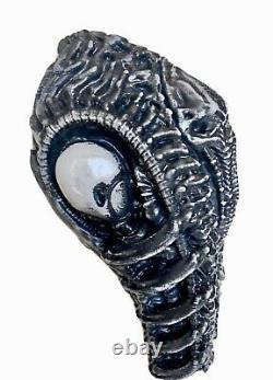 H. R Giger Inspired Alien Engineer Space Jockey Ancient One Statue Space Gray