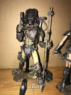 Hot Toys 1/6 Alien vs Wolf Predator AVP/ She Predator Lot 3-loose Figures