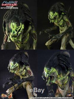 Hot Toys 1/6 Aliens vs Predator AVP Requiem Predalien Battle Damaged MMS74 Japan