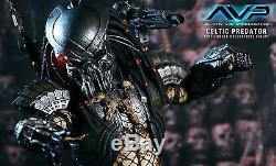 Hot Toys MMS09 AvP Alien Vs Predator CELTIC PREDATOR Action Figure COMPLETE BOX