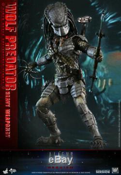 Hot Toys Wolf Predator Heavy Weaponry 1/6 Scale Figure Alien V Predator Sideshow