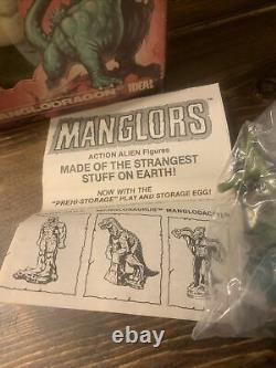 IDEAL MANGLORS Manglodragon 1984 withbox, stand, EGG, Instructions, Action Alien