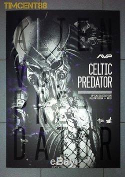 In Stock! Hot Toys Alien vs. Predator AVP 1/6 Celtic Predator 2.0 Figure 14 New