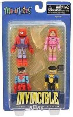 Invincible Minimates Box Set 4-PackAtom Eve, Omni-Man, Allen the Alien Image
