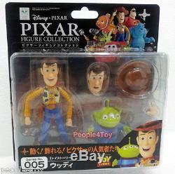 Kaiyodo Revoltech Pixar Movie 005 TOY STORY WOODY+ALIEN 3 Action Figure Disney