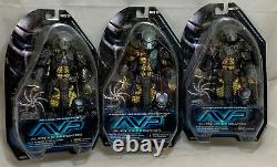 LOT 3x NECA AVP Alien vs Predator CELTIC CHOPPER ANCIENT WARRIOR action figures