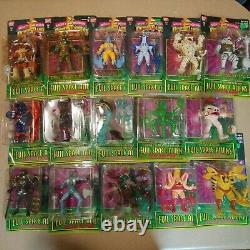Lot of 16 Mighty Morphin Power Rangers Action Feature Evil Space Aliens 1994
