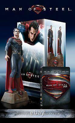 Man Of Steel Superman Ultimate Collectors Edition 3D Blu Ray Box Figur NEU & OVP