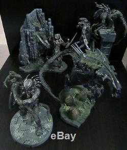McFarlane AVP Alien vs. Predator Playset Diorama figure lot Queen Celtic