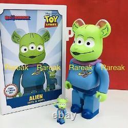 Medicom 2020 Be@rbrick Disney Toy Story 3 eyed Alien 400% + 100% Bearbrick set