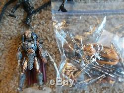 Microman AVP Used Lot 3 Aliens 3 Predator 1 Queen + Accessories
