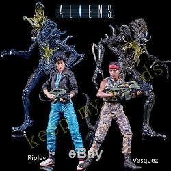 NECA 7 ALIENS 2 movie SERIES 12 PVC ACTION FIGURE Ripley Vasquez Xenomorph New