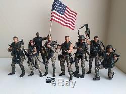 NECA ALIENS Marines LOT James CAMERON, HICKS, HUDSON, VASQUEZ, DUTCH, FROST etc