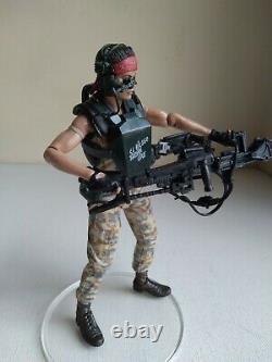 NECA ALIENS PRIVATE JENETTE VASQUEZ 7 ACTION FIGURE Machine gun USED U. S Seller