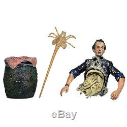 NECA ALIENS SERIES 5 BISECTED BISHOP ACTION FIGURE with FACEHUGGER & ALIEN EGG