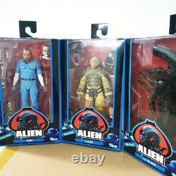 NECA Alien 40th Anniversary Kane Ash Alien 7 Action Figure Set Of 3 Wave 3 Offi