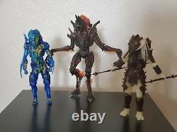 NECA Alien vs Predator Lot Thermal, Rhino Alien, Serpent