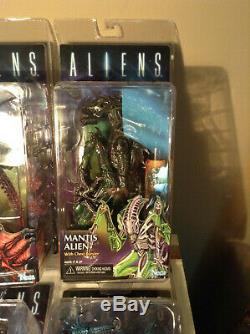 NECA Aliens Kenner Retro Action Figure LOT (6) Gorilla Mantis Snake Scorpion