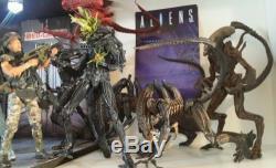 NECA Aliens lot 12 Windrix Hudson Hicks Ripley Bishop 6 Xenomorph CUSTOM DIORAMA