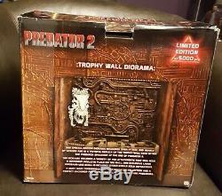NECA Predator 2 TROPHY WALL with ALIEN SKULL Additional 10 skulls! Free Shipping