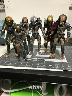 NECA Predator figures Mixed LOOSE LOT of 6 USED Missing Accessories