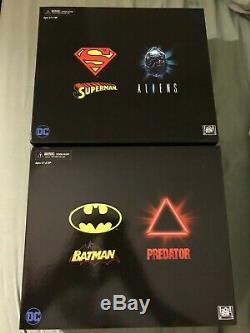 NECA SDCC 2019 DC Darkhorse Batman Vs Predator & Superman Vs Alien 2-PACK Figure