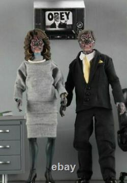 NECA They Live Alien 2 Pack 8 Clothed Action Figures Official