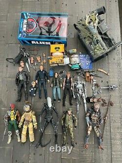 NECA loose Lot Aliens, Terminator, Predator, SDCC Hawkins